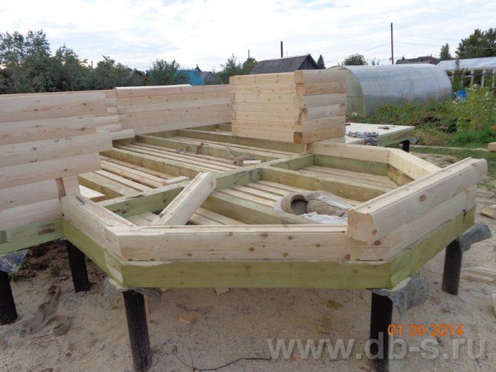 Строительство дома из бруса с мансардой 6 на 6 Подольск, Московская область фото 4