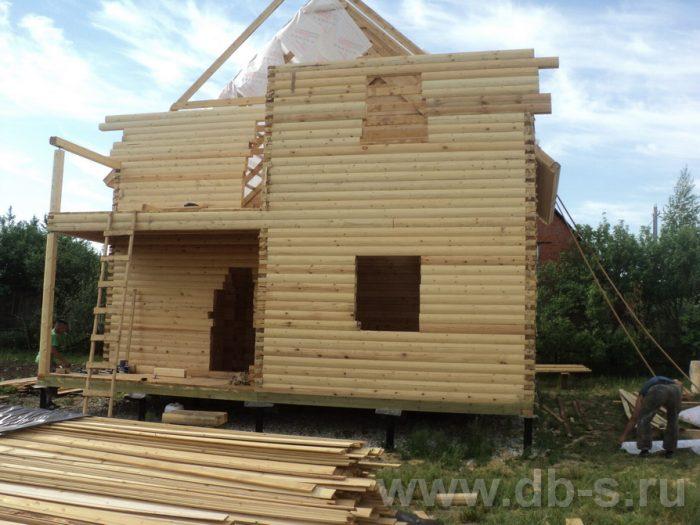 Строительство двухэтажного дома из бруса 8 на 8 Коломна, Московская область фото 5