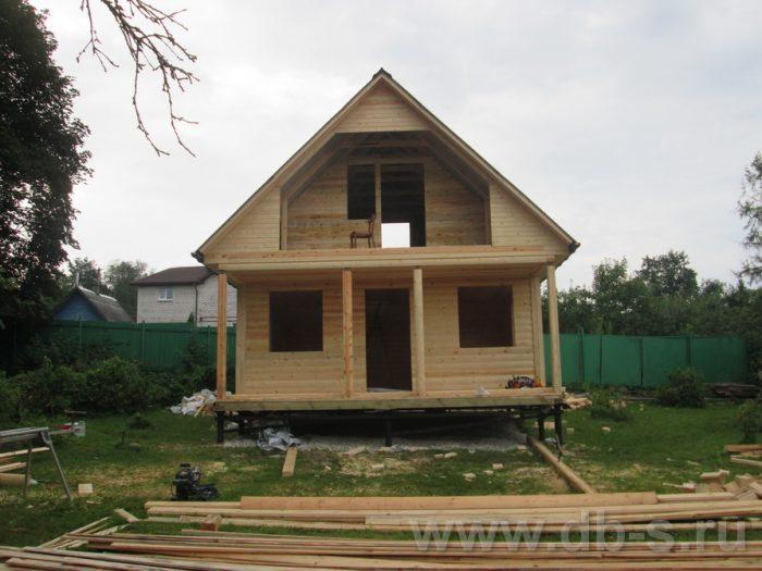 Строительство дома из бруса с мансардой 6 на 6 Солнечногорск, Московская область фото 4