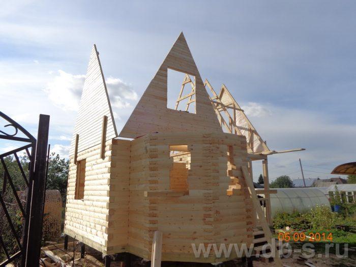 Строительство дома из бруса с мансардой 6 на 6 Подольск, Московская область фото 6