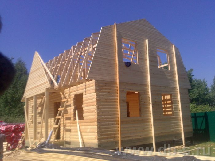 Строительство дома из бруса с мансардой 9 на 7 Люберцы, Московская область фото 6