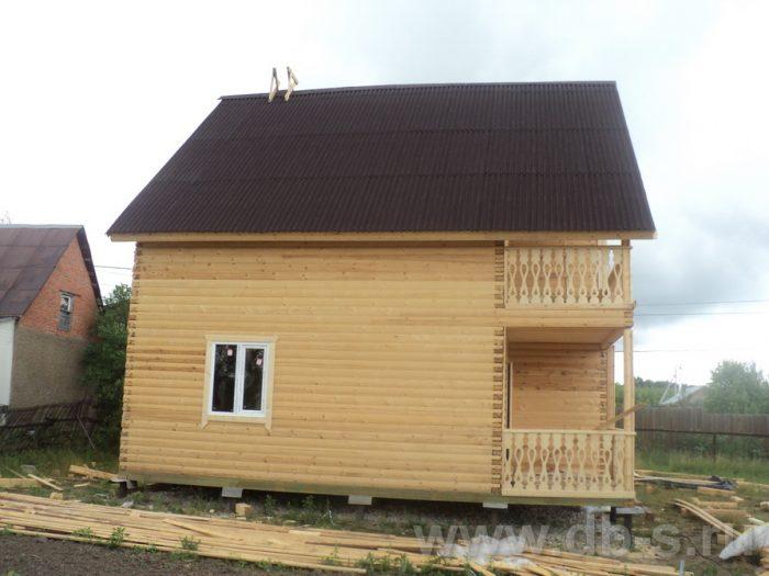 Строительство двухэтажного дома из бруса 8 на 8 Коломна, Московская область фото 6