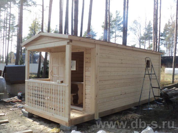 Строительство одноэтажной бани из бруса 7 на 2,3 Балашиха, Московская область фото 6