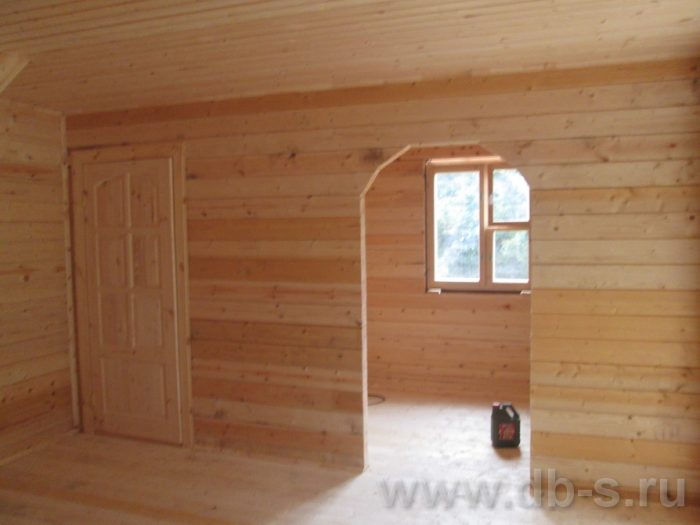 Строительство дома из бруса с мансардой 6 на 6 Переславль-Залесский, Ярославская область фото 6