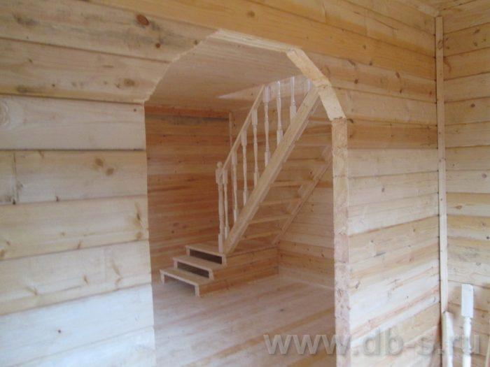 Строительство дома из бруса с мансардой 6 на 6 Переславль-Залесский, Ярославская область фото 7