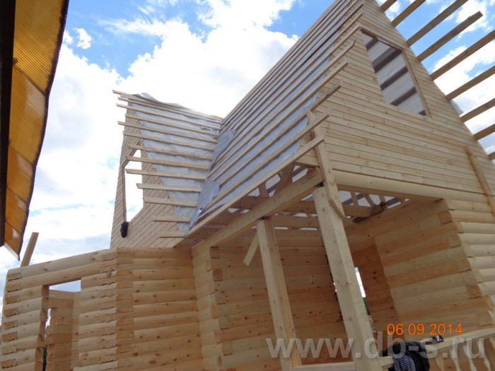 Строительство дома из бруса с мансардой 6 на 6 Подольск, Московская область фото 9