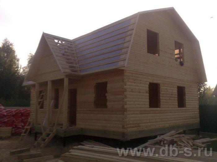 Строительство дома из бруса с мансардой 9 на 7 Люберцы, Московская область фото 7