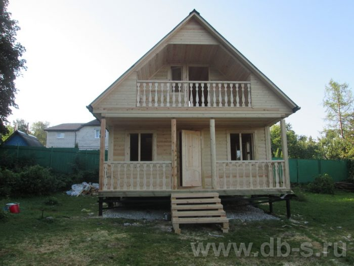 Строительство дома из бруса с мансардой 6 на 6 Солнечногорск, Московская область фото 1