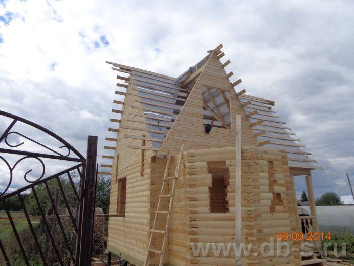Строительство дома из бруса с мансардой 6 на 6 Подольск, Московская область фото 7