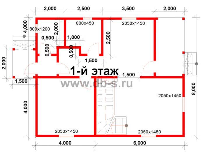 Строительство двухэтажного каркасного дома 10 на 8 Петушки, Владимирская область фото 2