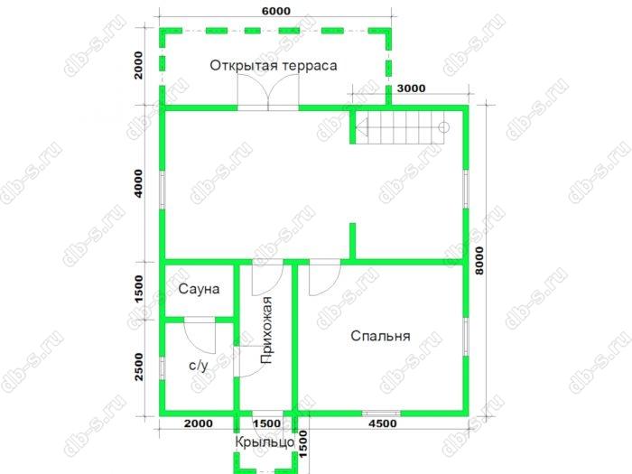 Строительство двухэтажного каркасного дома 8 на 8 Коломна, Московская область фото 2