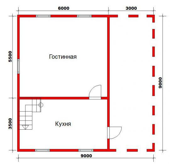 Строительство двухэтажного дома из бруса 9 на 9 Волхов, Ленинградская область фото 6