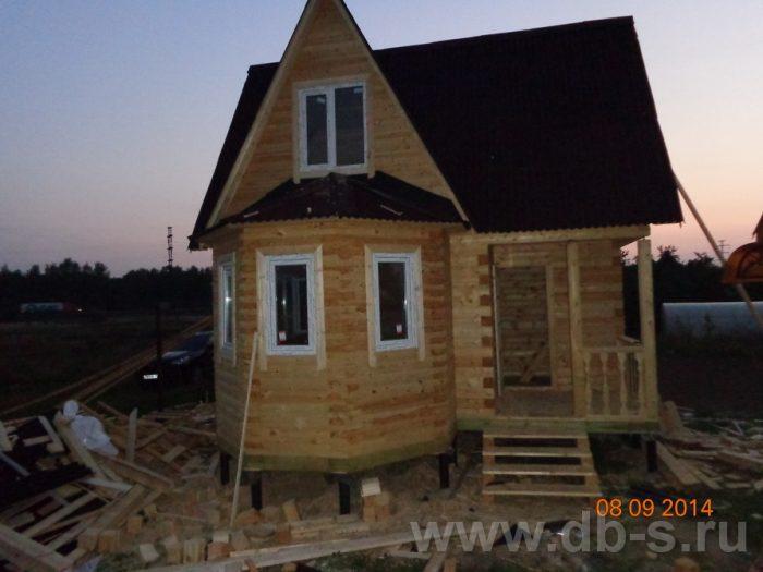 Строительство дома из бруса с мансардой 6 на 6 Подольск, Московская область фото 1