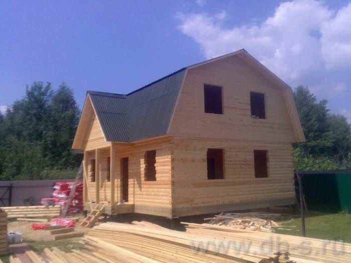 Строительство дома из бруса с мансардой 9 на 7 Люберцы, Московская область фото 9
