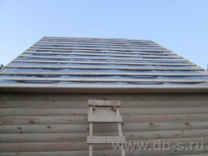 Строительство бани из бруса с мансардой 6 на 4 Балашиха, Московская область фото 6