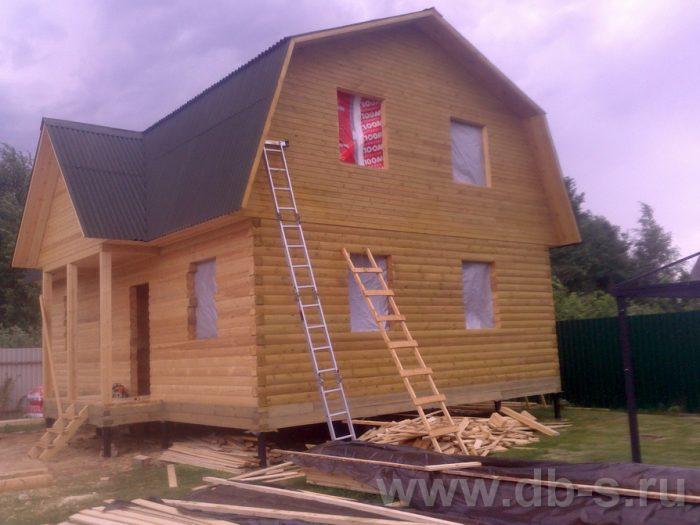 Строительство дома из бруса с мансардой 9 на 7 Люберцы, Московская область фото 10