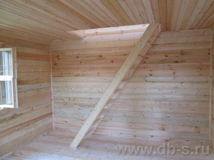 Строительство дома из бруса с мансардой 6 на 6 Солнечногорск, Московская область фото 8