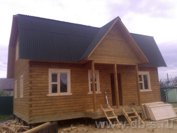 Строительство дома из бруса с мансардой 9 на 7 Люберцы, Московская область фото 12