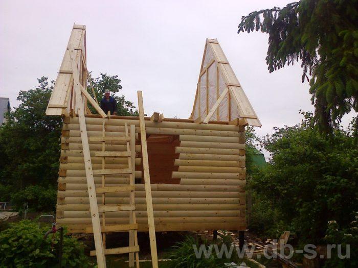 Строительство бани из бруса с мансардой 6 на 4 Домодедово, Московская область фото 17