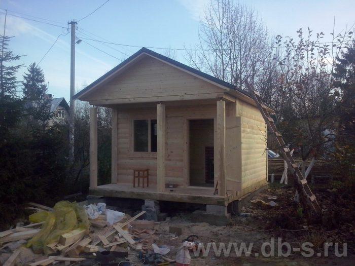 Строительство одноэтажной бани из бруса 6 на 4 Жуковский, Московская область фото 2