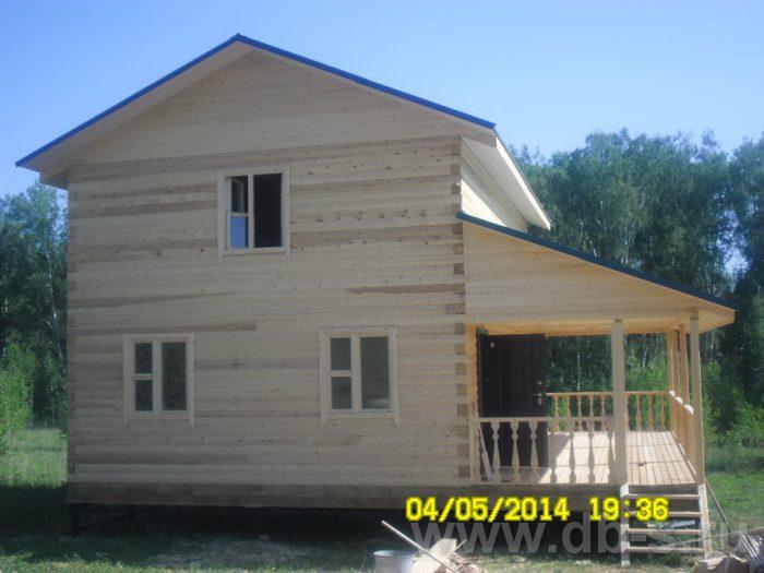 Строительство двухэтажного дома из бруса 9 на 9 Волхов, Ленинградская область фото 1