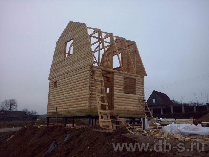 Строительство дома из бруса с мансардой 6 на 5 Фрязино, Московская область фото 2