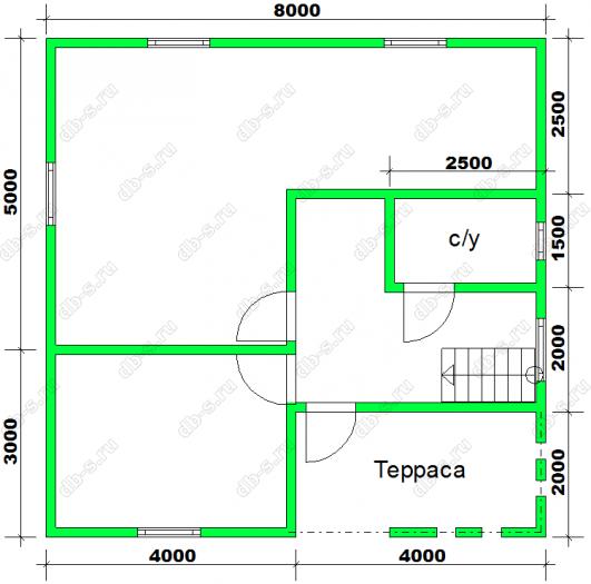 Строительство каркасного дома с мансардой 8 на 8 Калинин, Тверская область фото 2