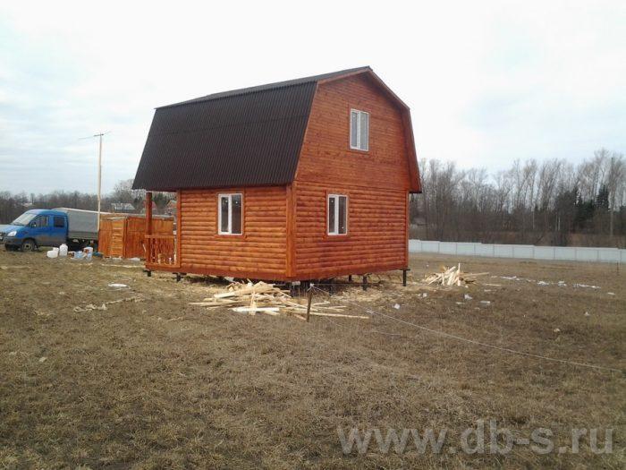 Строительство дома из бруса с мансардой 6 на 6 Голиково, Московская область фото 1
