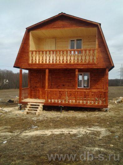 Строительство дома из бруса с мансардой 6 на 6 Голиково, Московская область фото 2