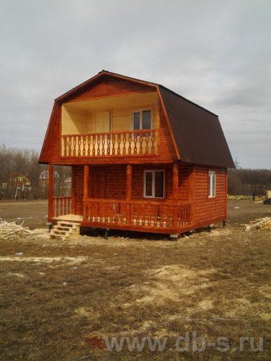 Строительство дома из бруса с мансардой 6 на 6 Голиково, Московская область фото 3