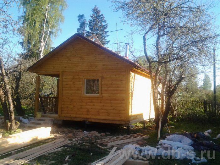 Строительство одноэтажной бани из бруса 5 на 5 Гатчина, Ленинградская область фото 3