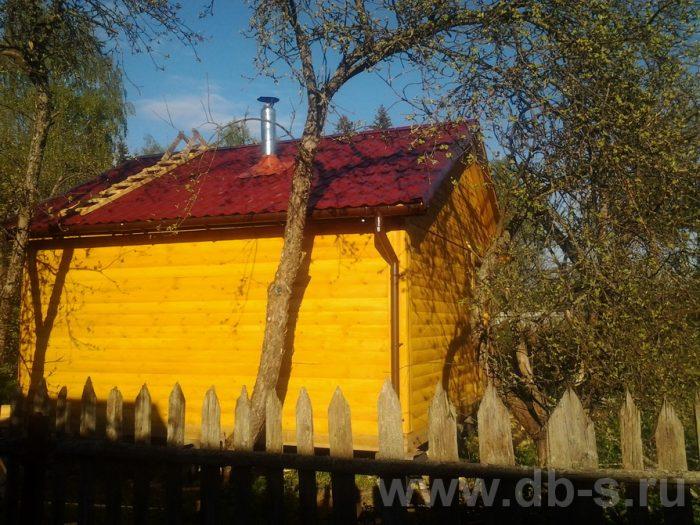 Строительство одноэтажной бани из бруса 5 на 5 Гатчина, Ленинградская область фото 2