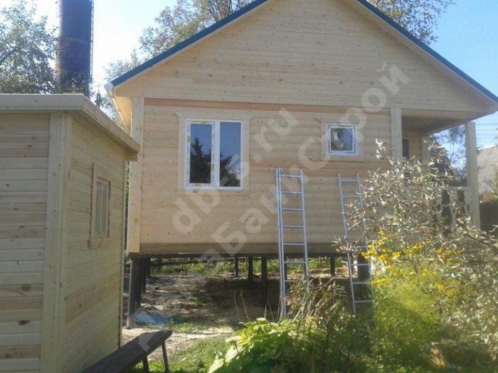 Строительство одноэтажной бани из бруса 6 на 6 Жуков, Калужская область фото 8