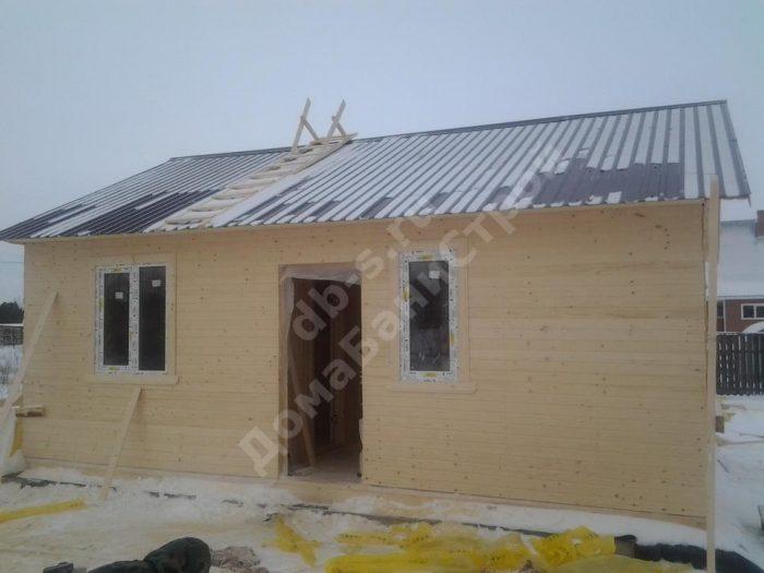 Строительство одноэтажного каркасного дома 7.5 на 9 Суворов, Тульская область фото 2