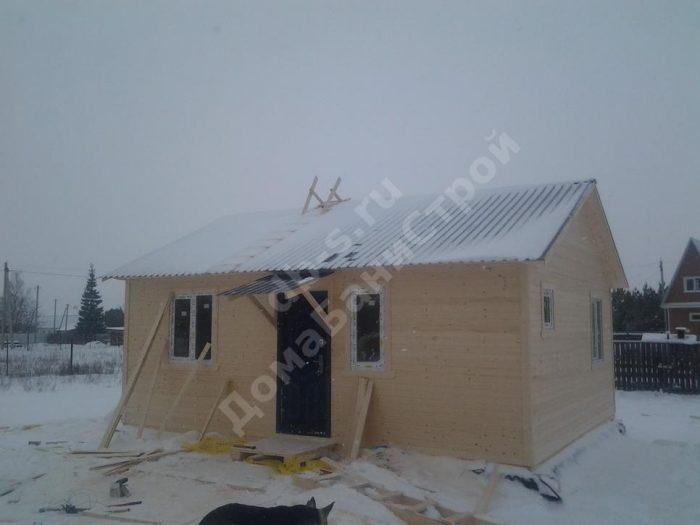Строительство одноэтажного каркасного дома 7.5 на 9 Суворов, Тульская область фото 3