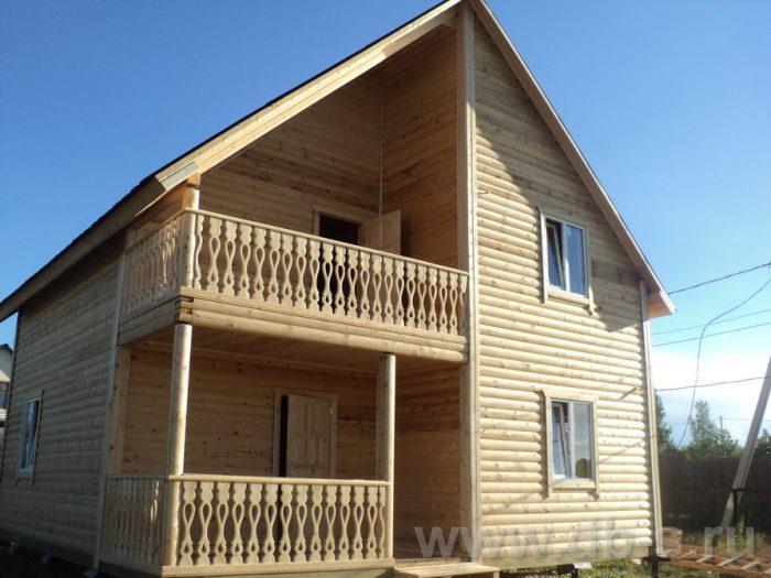 Строительство двухэтажного дома из бруса 8 на 8 Коломна, Московская область фото 23