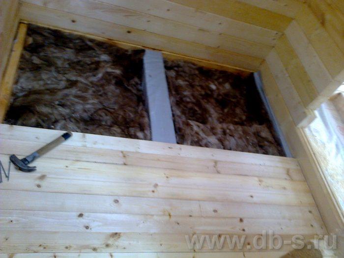 Строительство бани из бруса с мансардой 6 на 4 Домодедово, Московская область фото 23