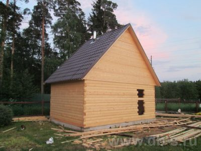 Строительство бани 6х4 г. Черноголовка