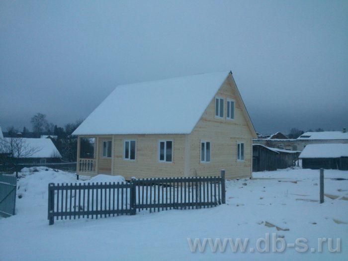 Строительство дома из бруса с мансардой 9 на 7.5 Электросталь, Московская область фото 3