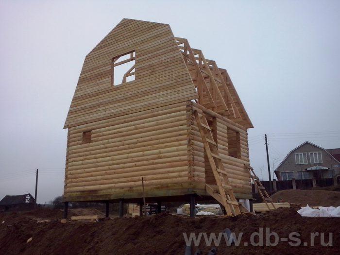 Строительство дома из бруса с мансардой 6 на 5 Фрязино, Московская область фото 3