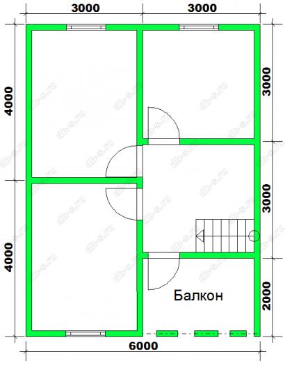 Строительство каркасного дома с мансардой 8 на 8 Калинин, Тверская область фото 3