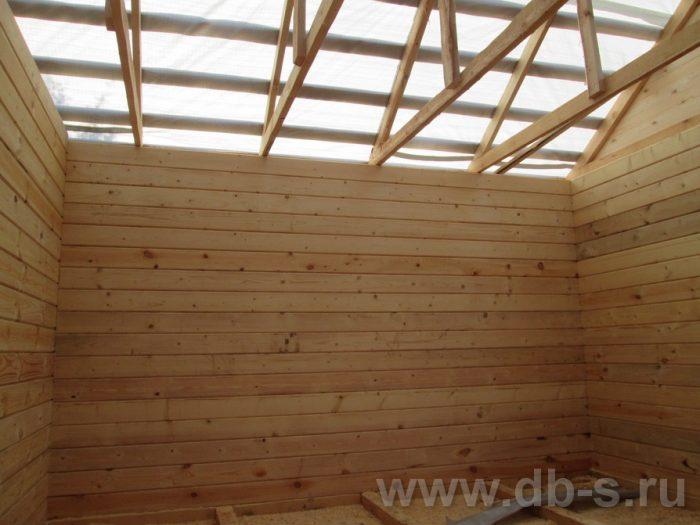 Строительство одноэтажной бани из бруса 6 на 4 Чехов, Московская область фото 13