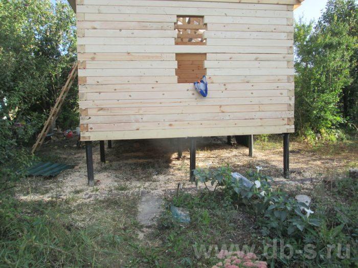 Строительство одноэтажной бани из бруса 6 на 4 Чехов, Московская область фото 14
