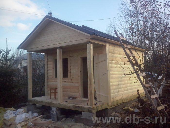 Строительство одноэтажной бани из бруса 6 на 4 Жуковский, Московская область фото 4