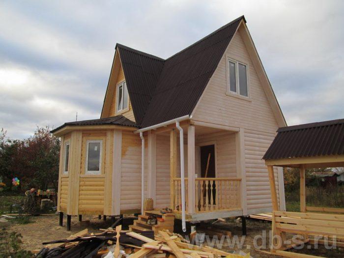 Строительство дома из бруса с мансардой 6 на 6 Кашира, Московская область фото 2