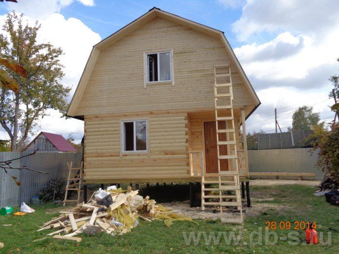Строительство дома из бруса с мансардой 6 на 8 Хотьково, Московская область фото 4