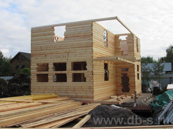 Строительство двухэтажного дома из бруса 8 на 6 Чехов, Московская область фото 5