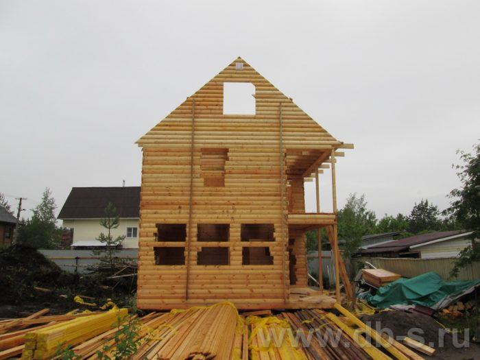 Строительство двухэтажного дома из бруса 8 на 6 Чехов, Московская область фото 6