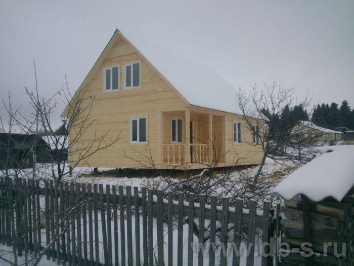 Строительство дома из бруса с мансардой 9 на 7.5 Электросталь, Московская область фото 5