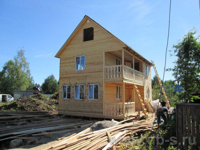 Строительство двухэтажного дома из бруса 8 на 6 Чехов, Московская область фото 1